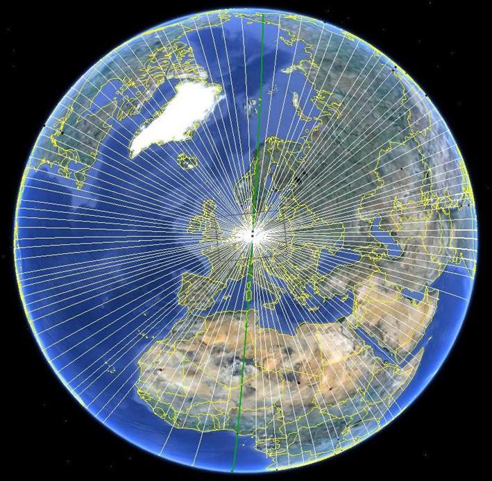 Ley linien karte europa